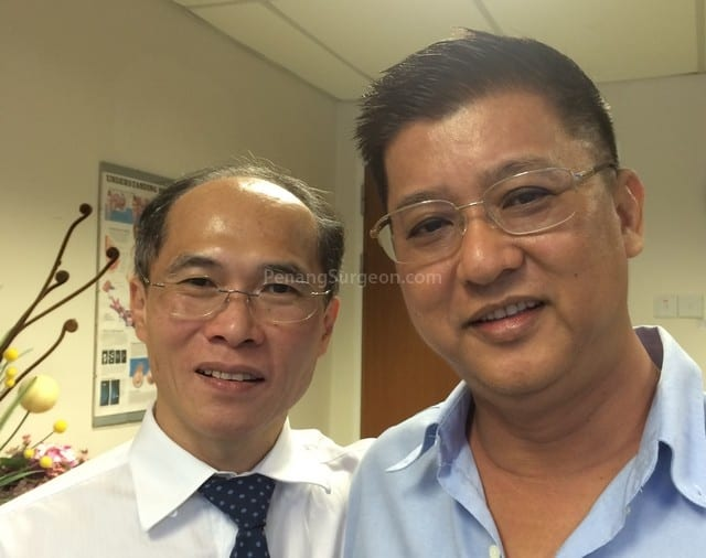 Mr Lim, looking good after surgery.